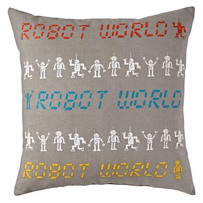 Robot Parade Throw Pillow