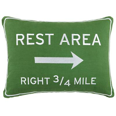 Transit Authority Rest Area Throw Pillow