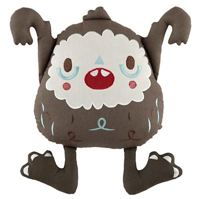 Yeti Throw Pillow (Brown)