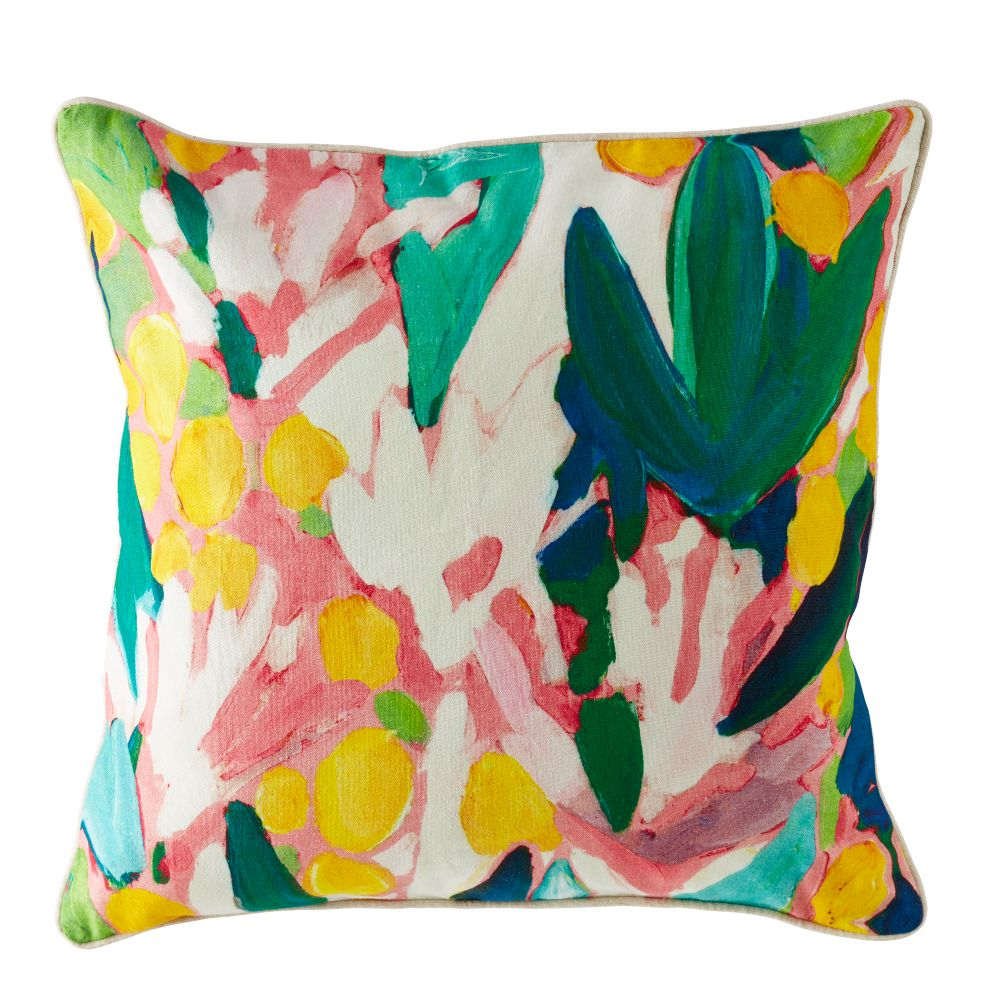 Floral Pattern Throw Pillow