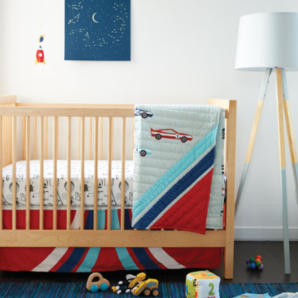 Pit Crew Race Car Crib Bedding - Pit Crew Baby Quilt