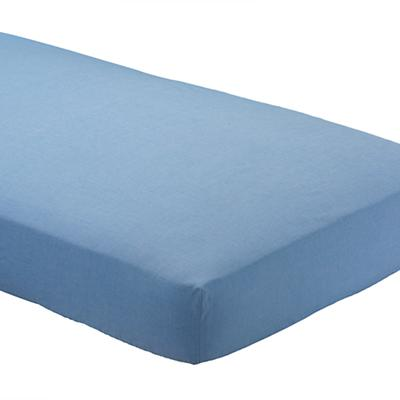 Lt. Blue Chambray Crib Fitted Sheet