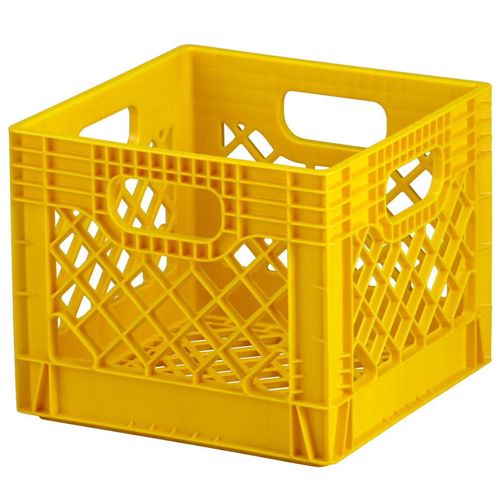 Yellow Milk Crate Storage The Land Of Nod