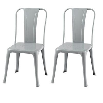 Set of Two Iron Rich Play Chairs (Grey)