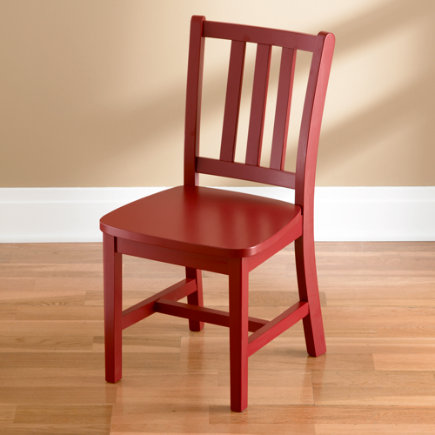Ordinaire Kids Chairs: Kids Red Wooden Parker Play Chairs   Tomato Red Parker Play  Chair Floor To Seat: 14 H