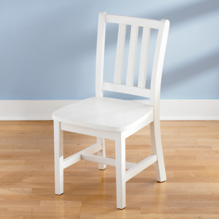 Kids Chairs: Kids White Wooden Parker Play Chairs   White Parker Play Chair  Floor To Seat: 14 H