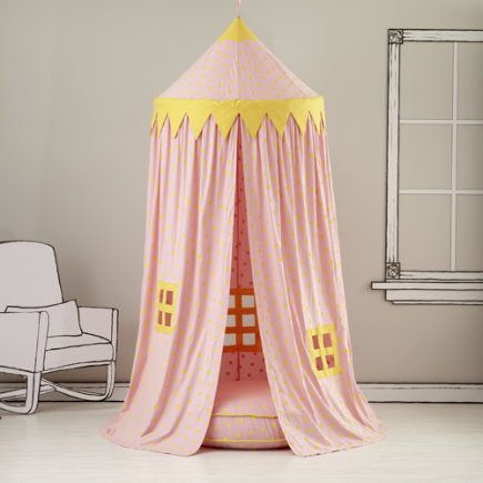 Kids Canopy: Pink Polka Dot Play Circus Tent - Pink Polka Dot Play Canopy