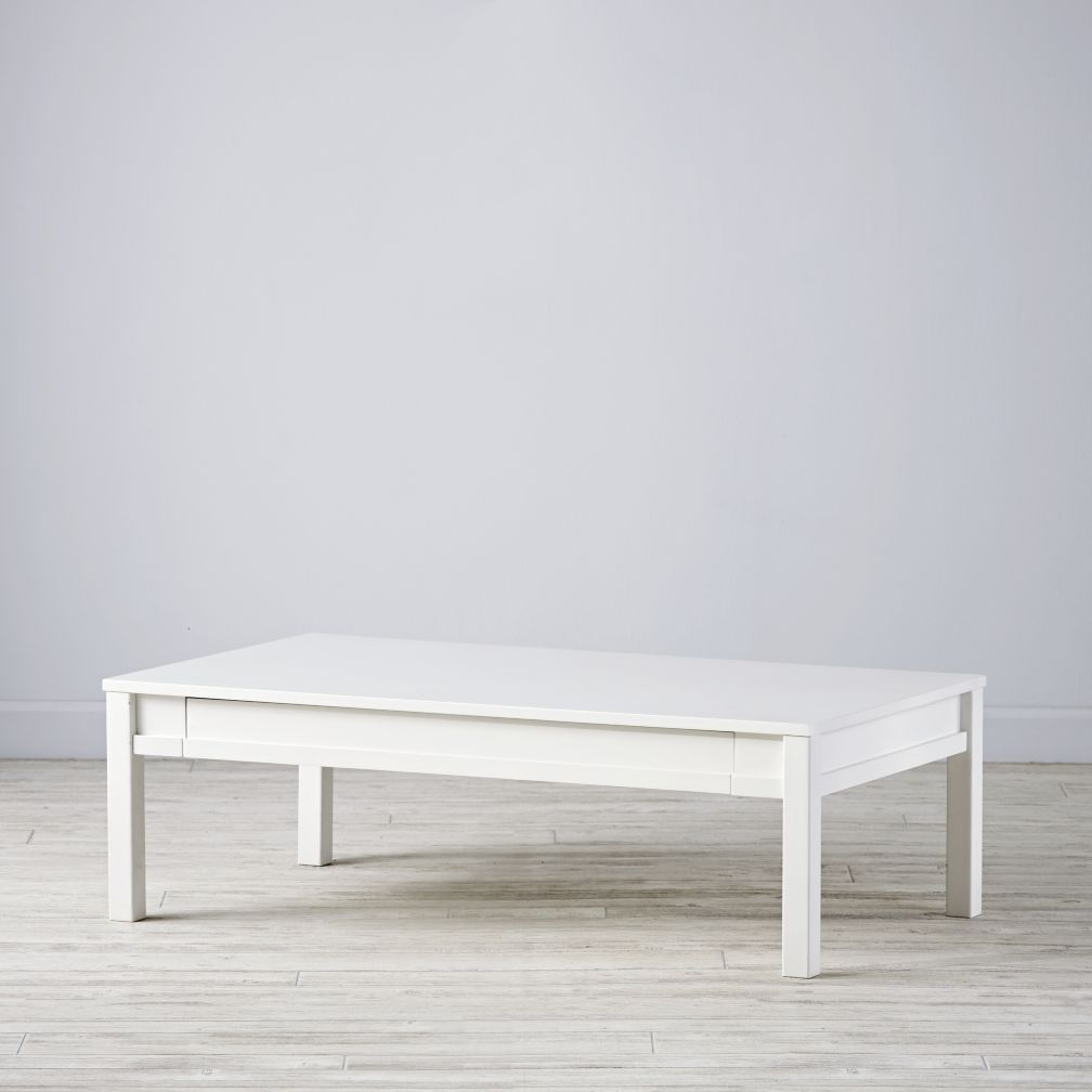 Small Adjustable White Activity Table