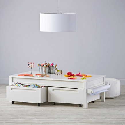 Small Adjustable Activity Table (White) - Small Adjustable White Activity Table