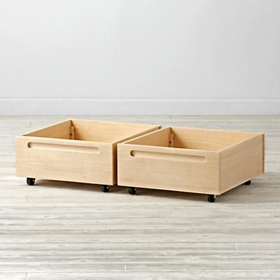 Adjustable Natural Activity Table Bins (Set of 2)