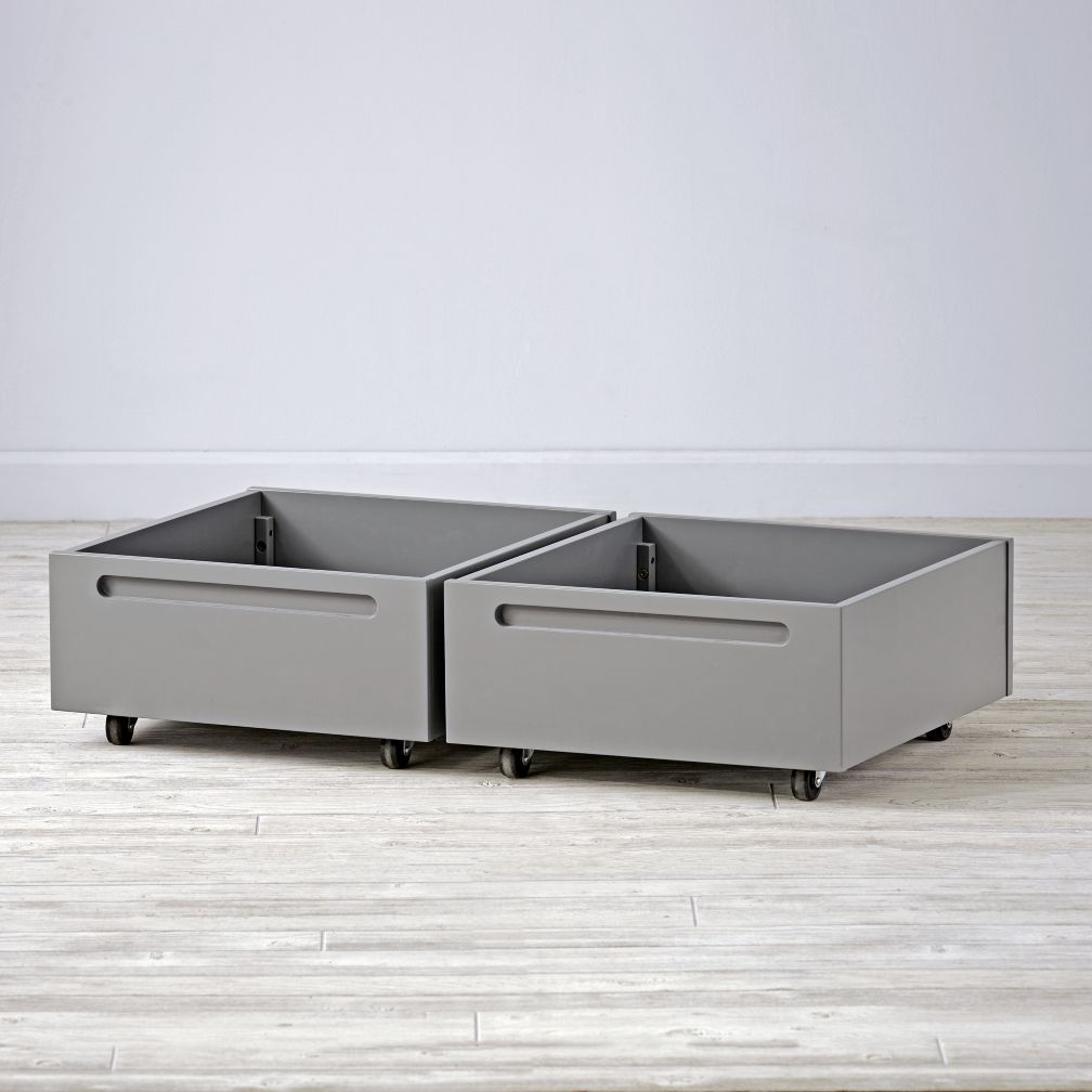 Set of 2 Adjustable Activity Table Bins (Grey)