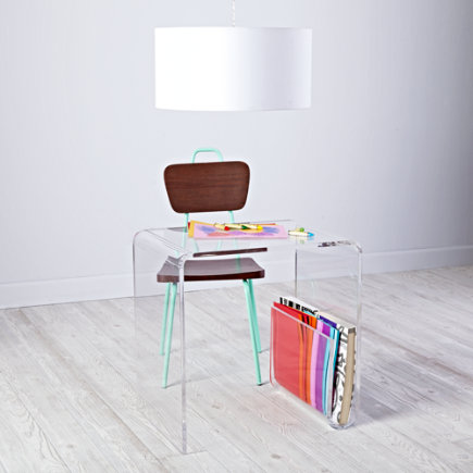 Clear Space Acrylic Toddler Desk