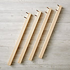 Set of 4 Natural Large Adjustable Activity Table Legs