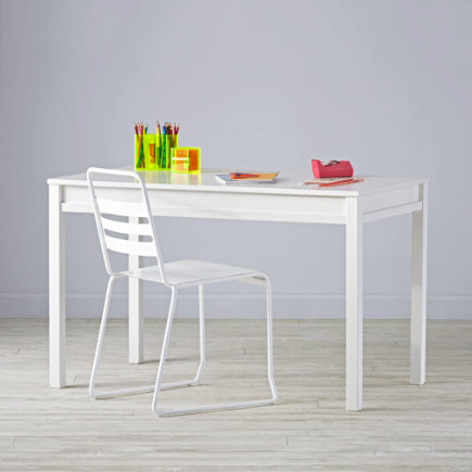 Large Adjustable Activity Table (White) - Complete Adjustable White  Activity Table Set