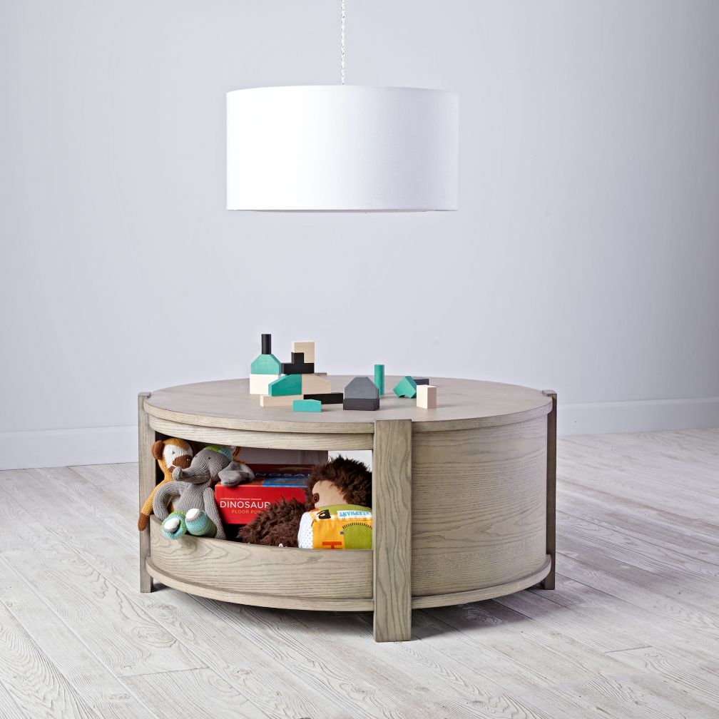 Rotunda Round Play Table Grey Stain The Land Of Nod