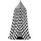 Black and White Playhouse Canopy & Cushion Set