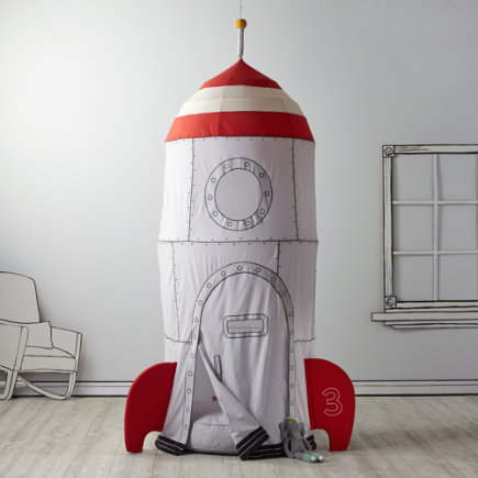 Rocket Ship Kids Playhouse Canopy - To the Moon Playhouse Canopy