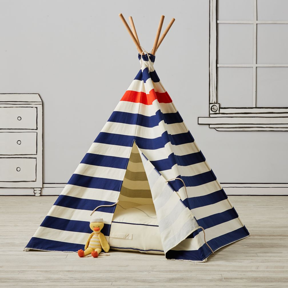 Modern Nautical Teepee and Cushion Set