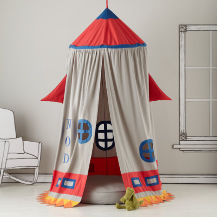Kids Play Tents: Rocket Ship Play Tent - Rocket Play Canopy