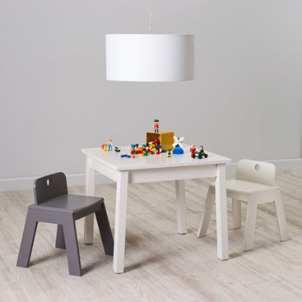 Kids White Wooden Play Table - Anywhere Square White Play Table