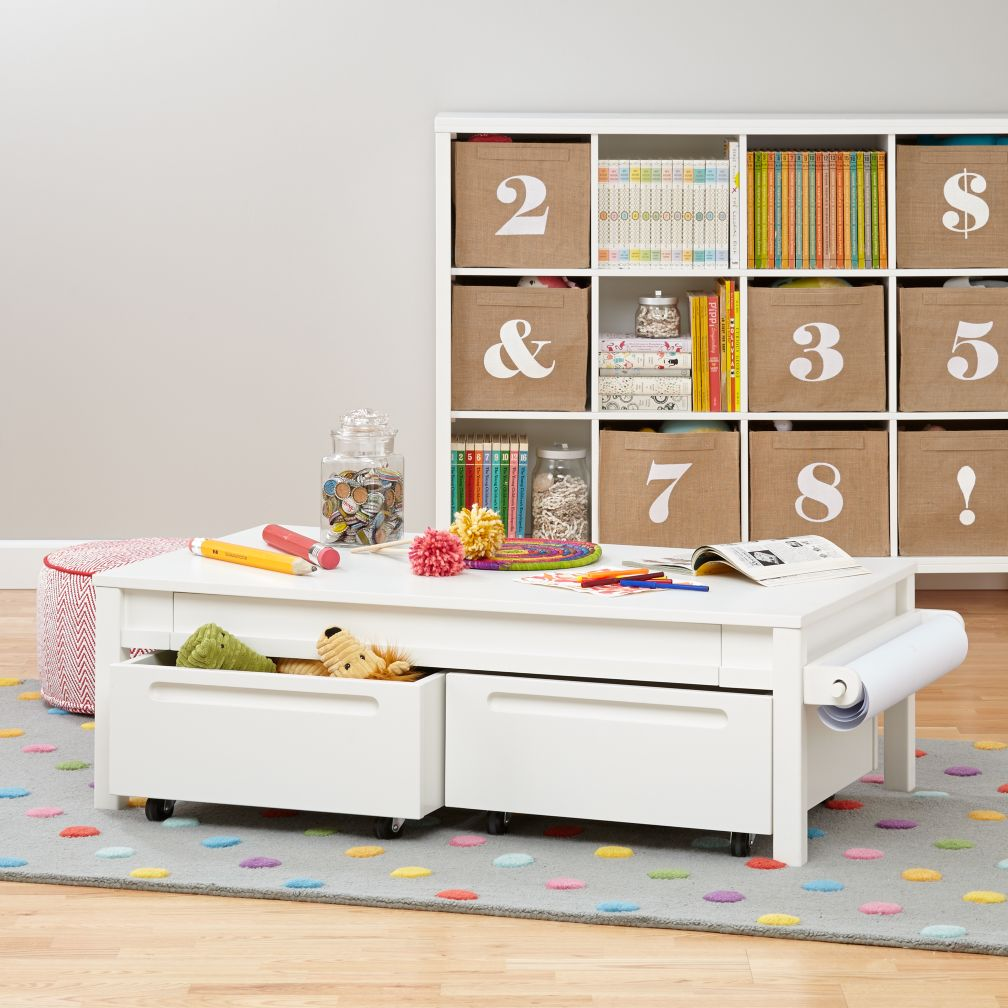 Small Adjustable Activity Table (White)