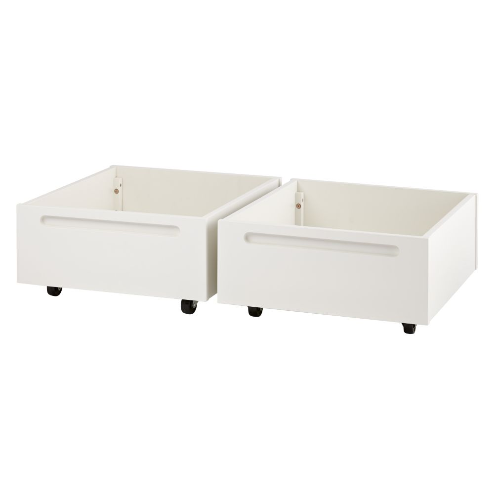Set of 2 Adjustable Activity Table Bins (White)