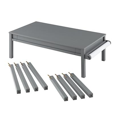Complete Adjustable Activity Table Set (Grey)
