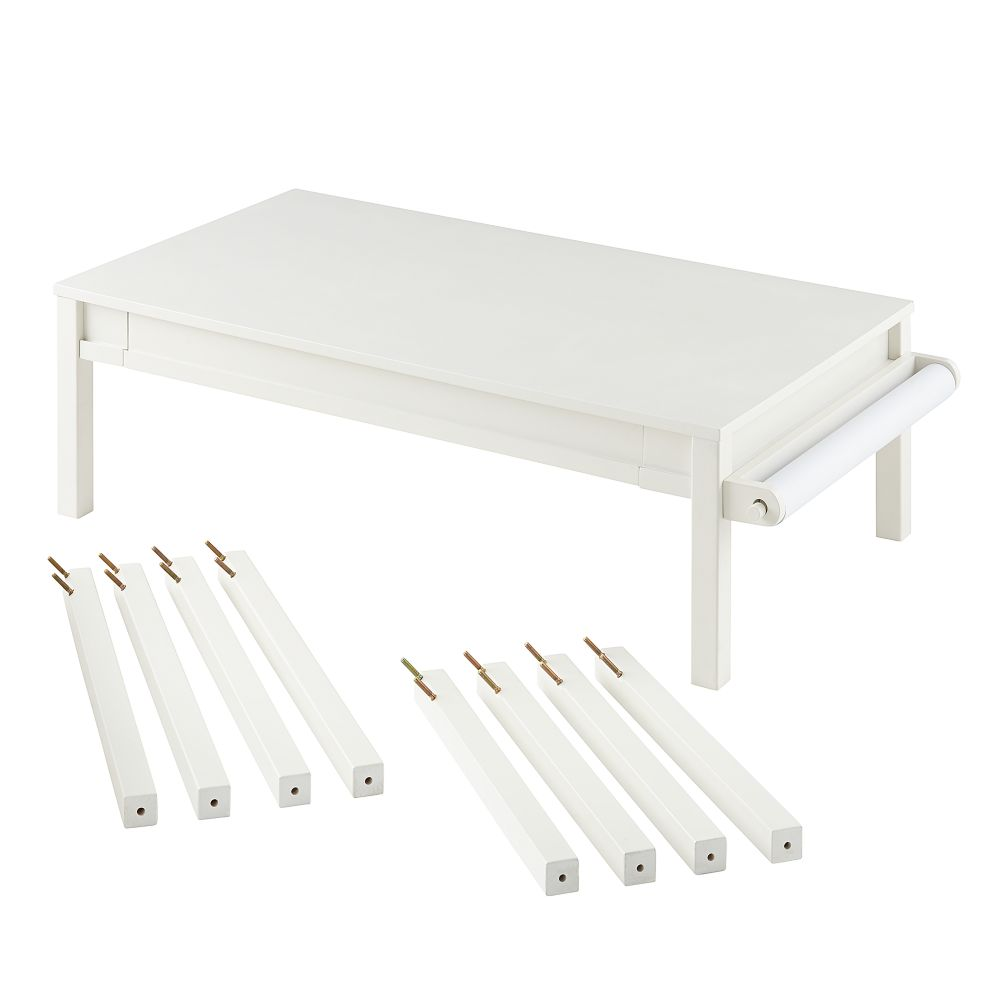 Complete Adjustable Activity Table Set (White)