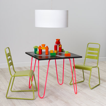 Hot Pink Neon Chalkboard Play Table - Hot Pink Neon Chalkboard Table