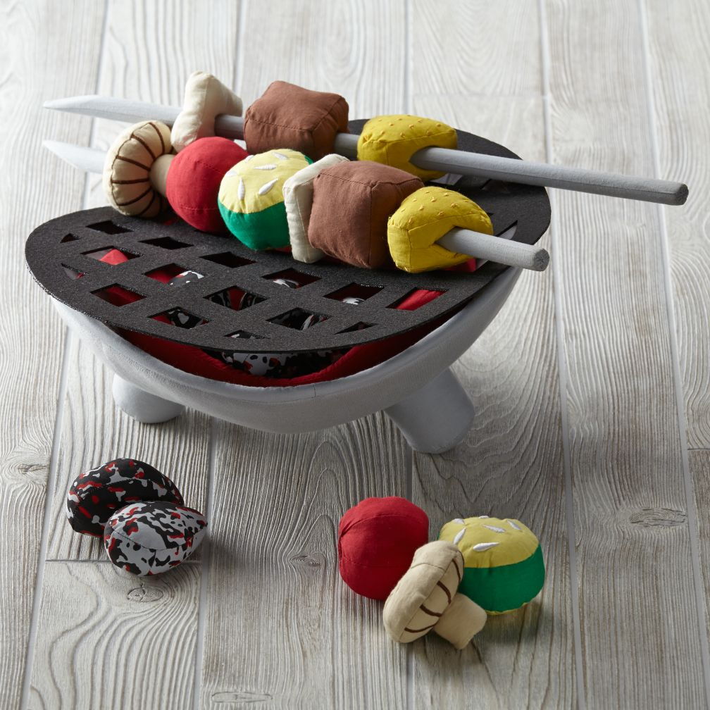 Kids Plush Barbecue Set - Just Grillin Play Set