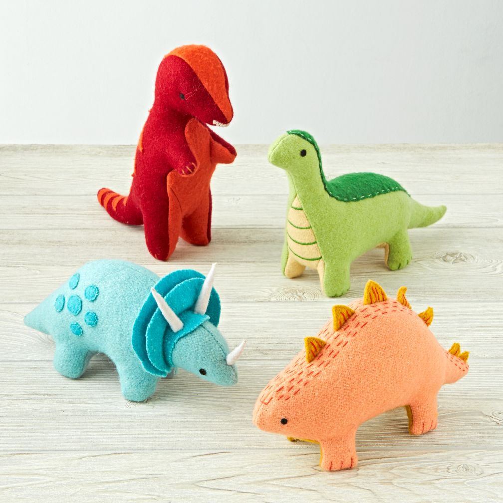 Dinosaur Stuffed Animals Set Of 4 The Land Of Nod