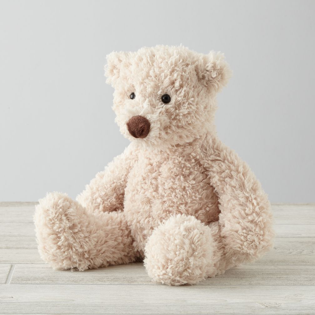 Medium Cream Bear Stuffed Animal