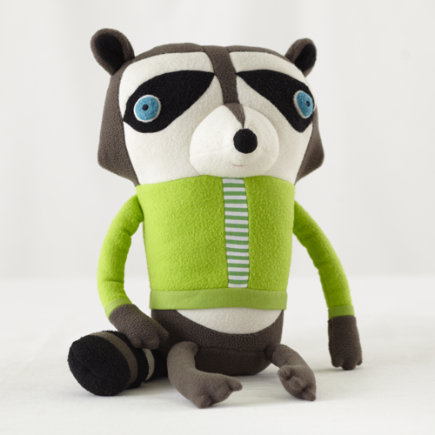 Kids Stuffed Animals: Jennifer Strunge Monster Raccoon - Raccoon Dad Cotton Monster