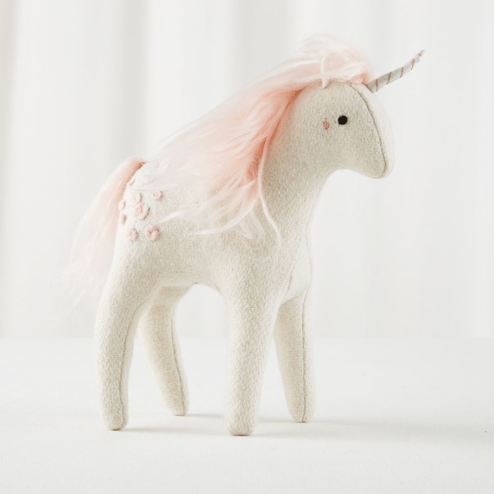 Mythical edition plush unicorn white the land of nod