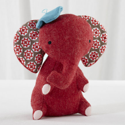 Kids Stuffed Animals: Hillary Land Wee Wonderfuls Elephant Doll - Wee Wonderfuls  Oliver Elephant
