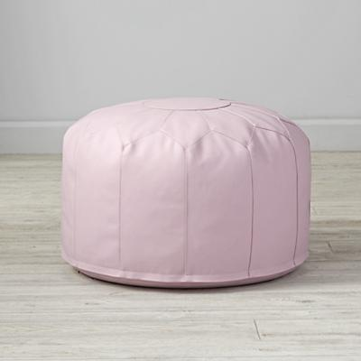 Faux Leather Lavender Pouf