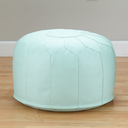 Faux-Leather Seats Come Standard (Green) - Faux Leather Mint Pouf