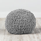 Grey Shaggy Pouf Seat