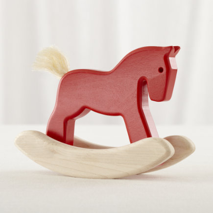 Red Wood Rocking Pony