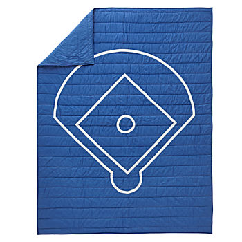 Nod Baseball Twin Quilt