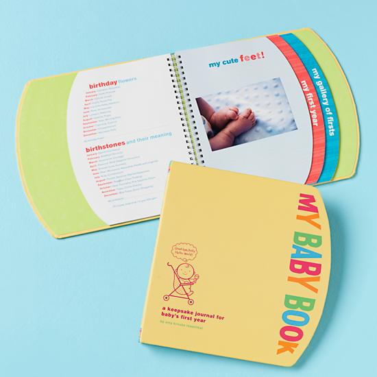 Amy Krouse Rosenthal S Colorful My Baby Book Is Filled With 96 Pages For Photos Mementos And Details Of First Year