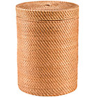 Honey Rattan Hamper w/Lid