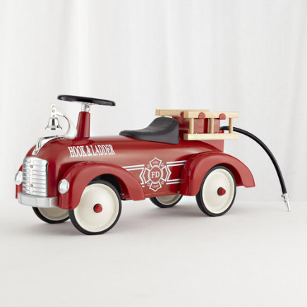Kids Ride-Ons: Kids Fire Engine Toy Speedster Ride-On - Dalmatian Fire Engine Speedster