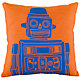 Robot Throw Pillow (Orange)