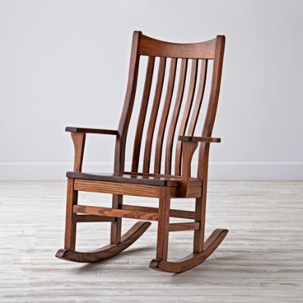 Nursery Rocker Chair: Classic Wooden Rocking Chair - Classic Wooden Rocking Chair