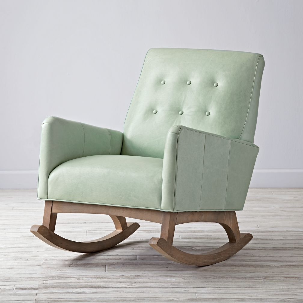 Everly Vintage Upholstered Rocking Chair The Land Of Nod