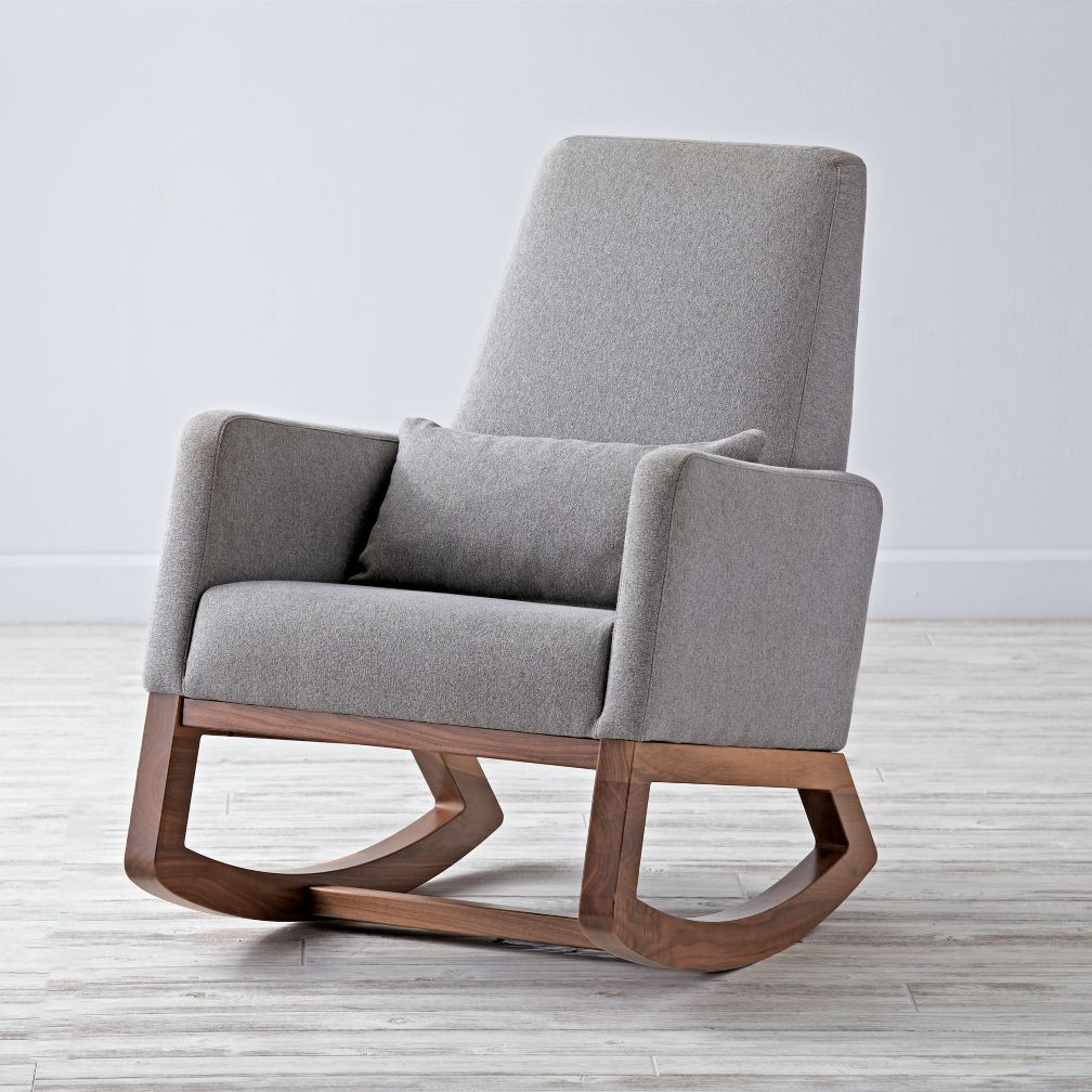 Joya Rocking Chair Heather: Grey  The Land of Nod