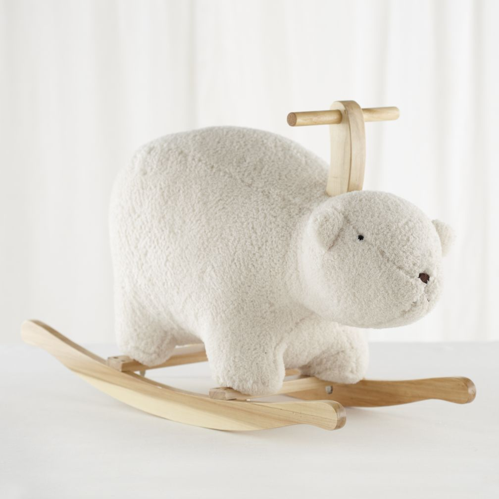 Personalized Bean Bag Chairs For Kids Polar Bear Rocking Horse | The Land of Nod