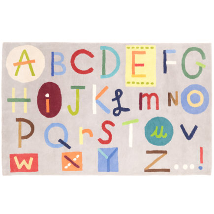 Kids Rugs: Kids Colorful Alphabet ABC Rug - 4 x 6 ABCs Rug