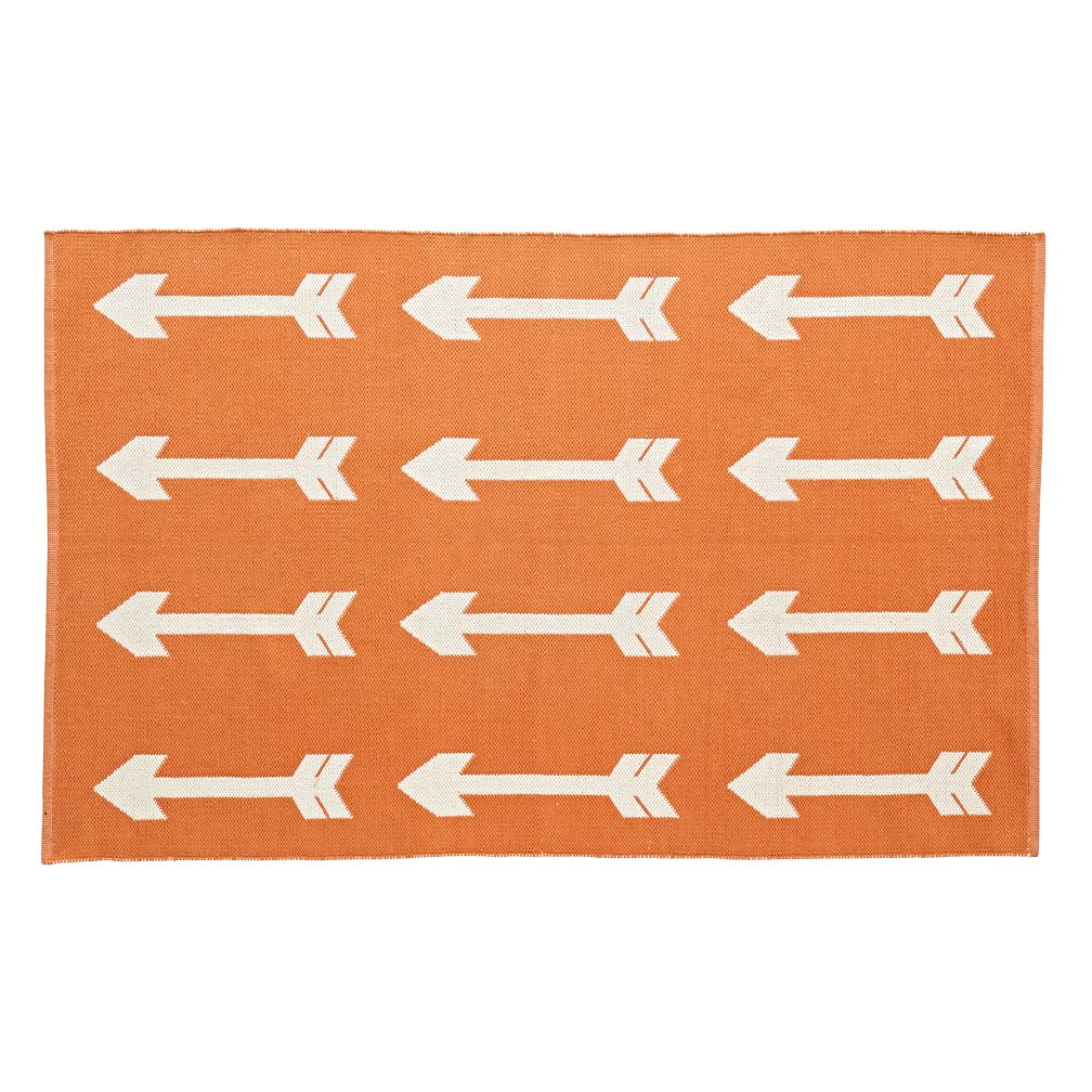Reversible Orange Arrow Rug